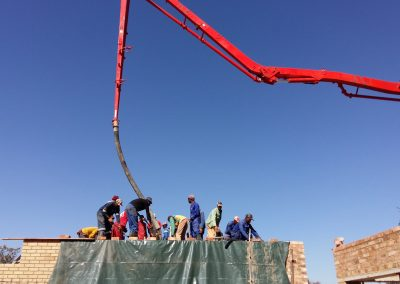 Jeppe 22 Pouring Of First Floor Slab